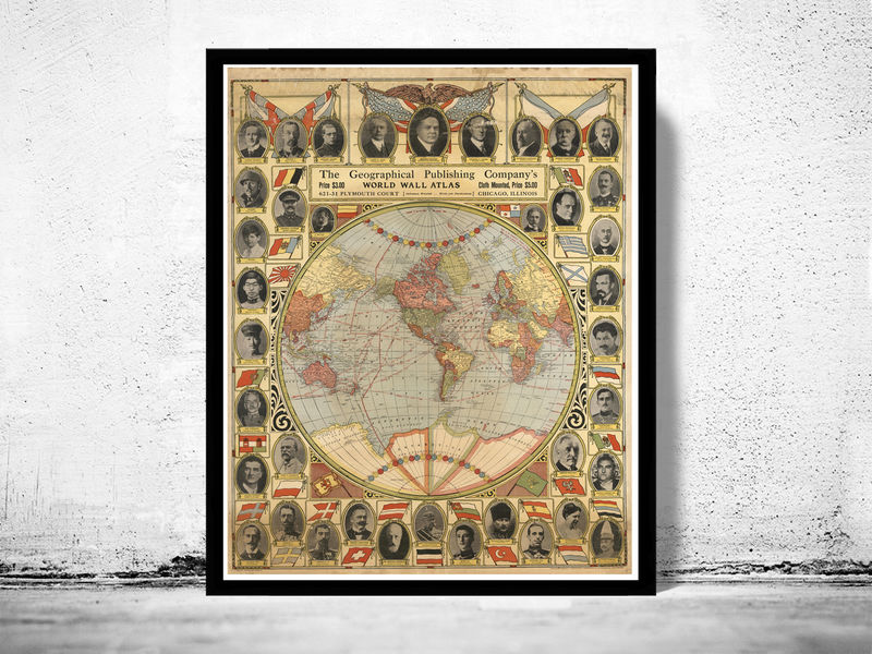 World map including hungary new things about transylvania romania vintage map of united states world leaders 1921 product image gumiabroncs Images