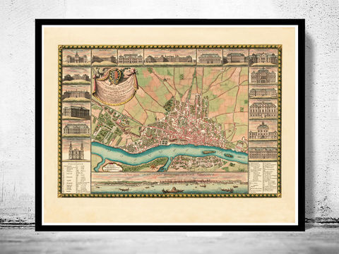 Old,Map,of,Warsaw,1772,with,gravures,,Poland,warszawa, Art,Reproduction,Open_Edition,city,vintage,illustration,gravure,vintage_map,city_plan,poland,warsaw,1831,old_map,vintage_poster