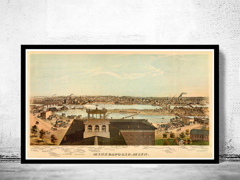 Vintage,Panoramic,of,Minneapolis,1874,Art,Reproduction,Open_Edition,United_States,panoramic_view,birdseye,vintage_map,old_map,california,old_Minneapolis,Minneapolis_city,Minneapolis_birdseye,Minneapolis_map,Minneapolis_poster,map_of_Minneapolis