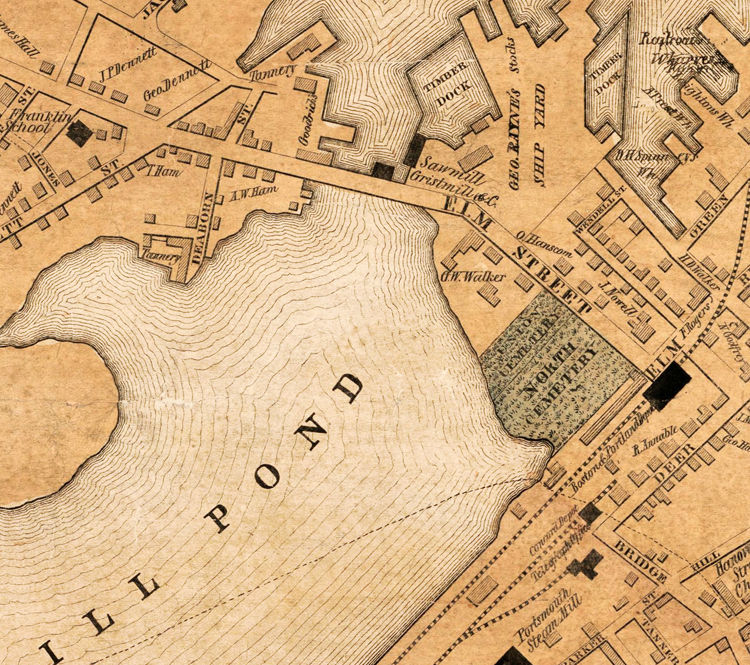 vintage Portsmouth map reprint 3 color choices and 5 largeXL sizes up to 40 x 30 1850 Portsmouth NH map reprint