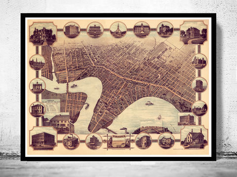 Old,Map,of,Winnipeg,Canada,1884,Panoramic,View,winnipeg, winnipeg canada, map of winnipeg, winnipeg map, winnipeg poster, maps, large map , map reproductions