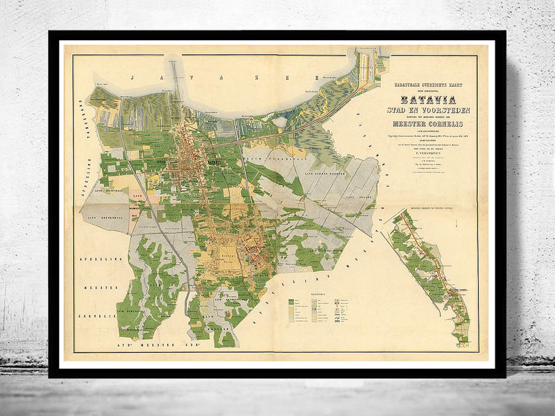 Old map of jakarta batavia indonesia 1876 old maps and vintage prints old map of jakarta batavia indonesia 1876 product image gumiabroncs Image collections