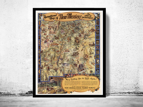 Vintage,Poster,of,Mexico,Tourism,poster,travel,new mexico, new mexico map, new mexico poster, new mexico travel, new mexico decor, new mexico gift, new mexico vintage, vintage poster, antique map, travel poster
