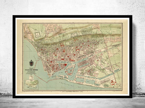 Old,Map,of,Le,Havre,France,1896,Vintage,Art,Reproduction,Open_Edition,vintage,gravure,vintage_map,french art, maps for sale, buy map, le havre, le havre france, map of havre, havre map, le havre poster,france_map, , old maps for sale, maps reproductions
