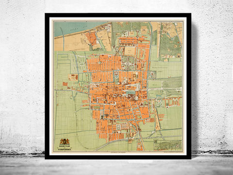 Old,Vintage,Map,of,The,Hague,Den,Haag,1889,Antique,den haag map, The hague netherlands , the hague , deen hague netherlands, the hague poster