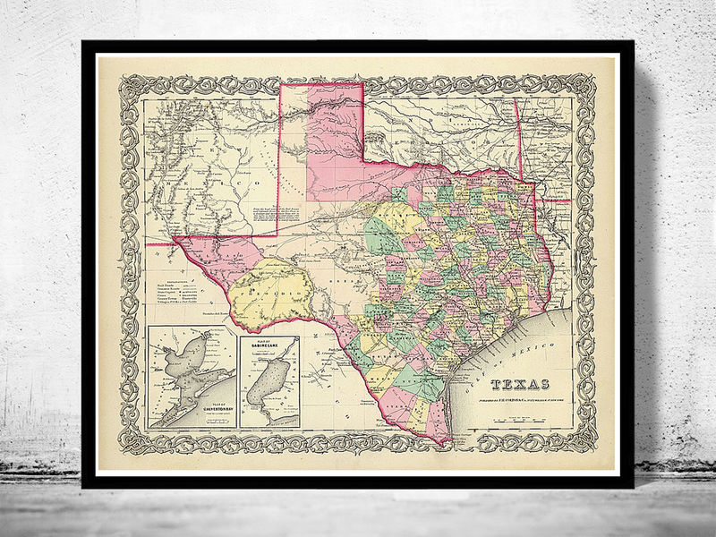 Old Map Texas United States Of America OLD MAPS AND VINTAGE - How old is the united states of america