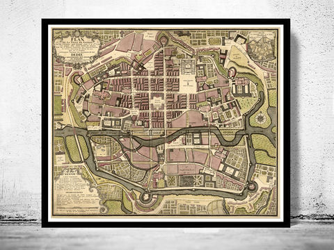 Old,Map,of,Rennes,France,1726,Art,Reproduction,Open_Edition,vintage,gravure,vintage_map,french art, maps for sale, buy map,rennes, rennes france, rennes poster, rennes map, map of rennes, map reproductions , old maps for sale, maps repr