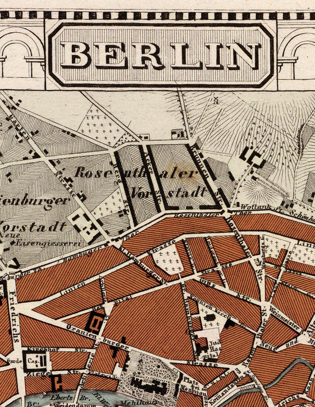 Antique Map Of Berlin Germany OLD MAPS AND VINTAGE PRINTS - Vintage map berlin