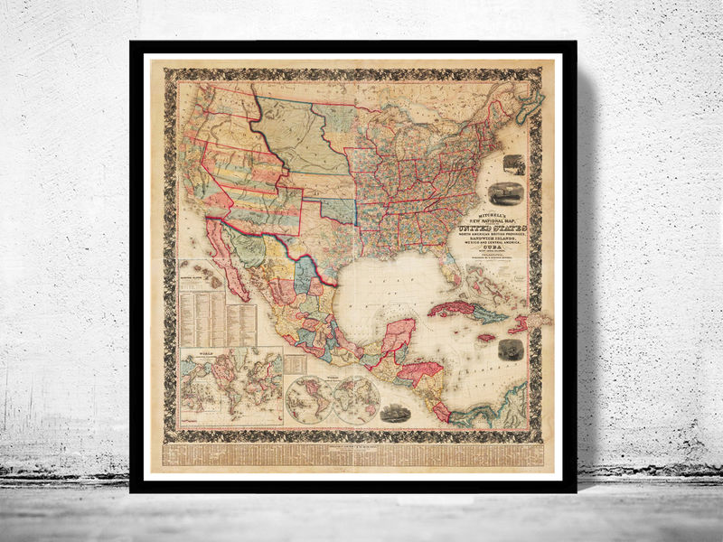 United States Map Vintage Map Download Antique Map History - Vintage map of us