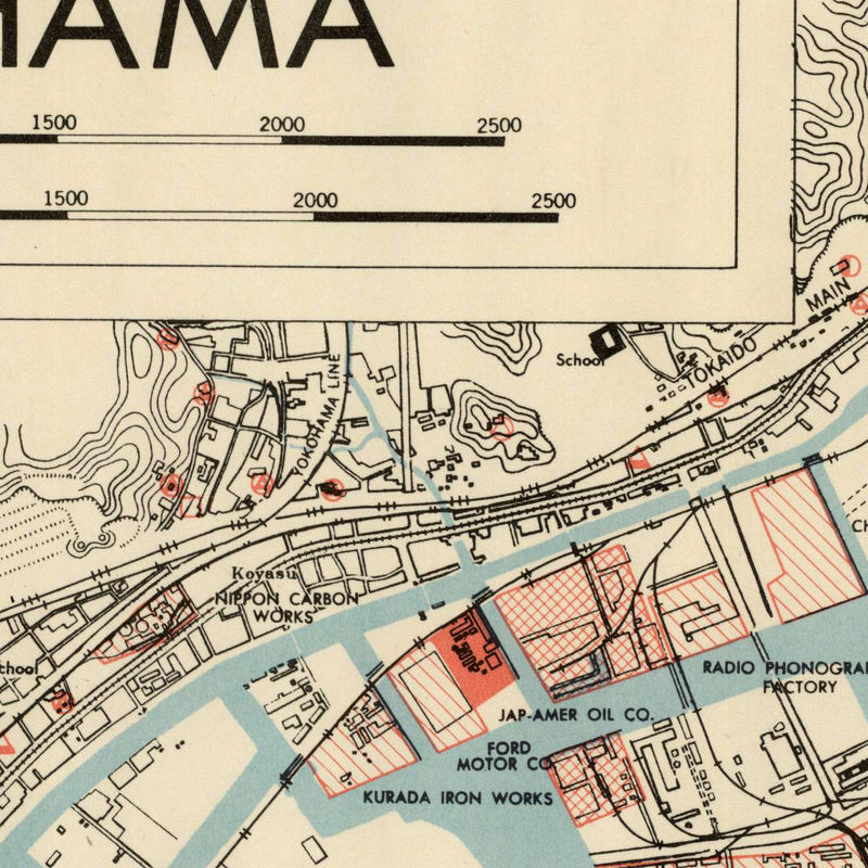 Old Map Of Yokohama City Japan OLD MAPS AND VINTAGE PRINTS - Japan map 1500