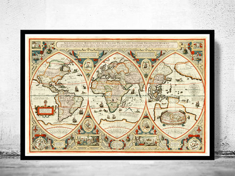 Antique,World,Map,1618,Art,Reproduction,Open_Edition,World_map,old_map,atlas,discoveries,explorations,vintage_poster,city_plan,earth_atlas,map_of_the_world,world_map_poster,vintage_world_map,old_world_map,antique_world_map