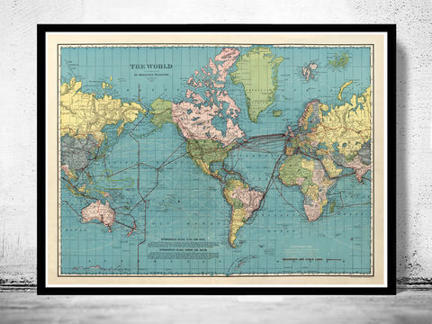 World,Map,Vintage,Atlas,1924,Mercator,projection,atlas. world map, wall world map, Art,Reproduction,Open_Edition,World_map,old_map,atlas,discoveries,vintage_poster,earth_atlas,map_of_the_world,world_map_poster,old_world,vintage_world_map,wall_world_atlas,wall_decor_atlas,antique_world_map