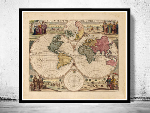 Old,World,Map,1686,Two,Hemispheres,old map of the world, antique map of the world, Art,Reproduction,Open_Edition,World_map,old_map,antique,atlas,discoveries,explorations,vintage_poster,city_plan,earth_atlas,map_of_the_world,world_map_poster,old_world,vintage_world_map