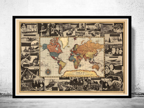 Vintage,World,Map,War,II,History,1939,WWII, world war, world war poster, world war map