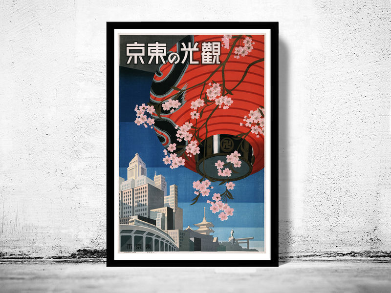 Vintage Poster of Tokyo Tokio Japan 1930 Tourism poster travel