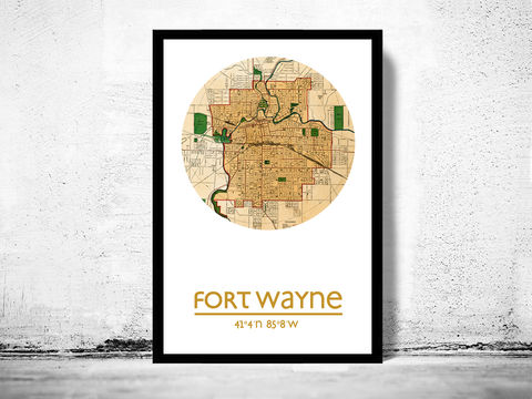 FORT,WAYNE,-,city,poster,map,print, FORT WAYNE  print, FORT WAYNE  poster, united states Poster, american art, FORT WAYNE , FORT WAYNE map, wall decor, city,maps, travel poster