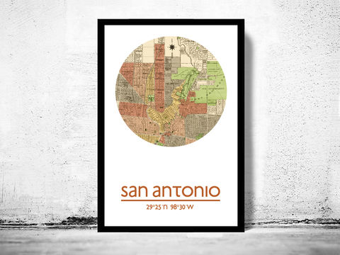 SAN,ANTONIO,-,city,poster,map,print, SAN ANTONIO print, SAN ANTONIO  poster, SAN ANTONIO Poster, SAN ANTONIO art, SAN ANTONIO tx , SAN ANTONIO map, wall decor, city,maps, travel poster