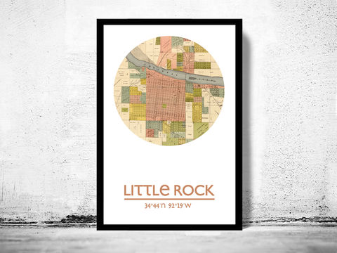 LITTLE,ROCK,-,city,poster,map,print, LITTLE ROCK print, LITTLE ROCK  poster, LITTLE ROCK Poster, LITTLE ROCK art, LITTLE ROCK ar , LITTLE ROCK map, wall decor, city,maps, travel poster