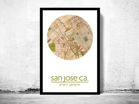 SAN,JOSE,CA,-,city,poster,map,print, SAN JOSE print, SAN JOSE  poster, california Poster, SAN JOSE art, SAN JOSE CA , SAN JOSE map, wall decor, city,maps, travel poster