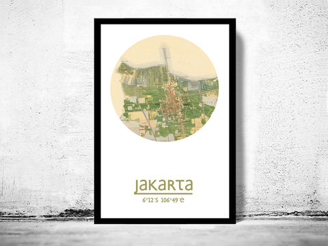 JAKARTA,-,city,poster,map,print, jakarta print, jakarta poster, indonesia Poster, indonesian art, jakarta , jakarta map, wall decor, city,asian art,maps, travel poster