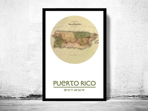 PUERTO,RICO,-,city,poster,map,print, PUERTO RICO print, PUERTO RICO poster, PUERTO RICO Poster, PUERTO RICO art, PUERTO RICO city, PUERTO RICO map, wall decor, city,maps, travel poster