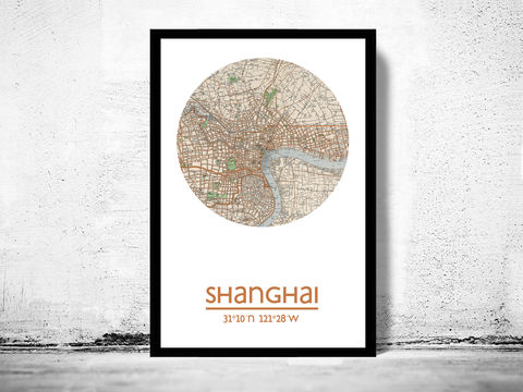 SHANGHAI,-,city,poster,map,print,Art,Reproduction,Open_Edition,Shanghai_print,Shanghai__poster,china_Poster,chinese_art,Shanghai,Shanghai_map,wall_decor,asian_art,maps,travel_poster