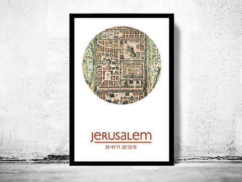 JERUSALEM,-,city,poster,map,print,Art,Reproduction,Open_Edition,jerusalem_print,jerusalem__poster,jerusalem_Poster,israel_art,seoul,jerusalem_map,wall_decor,asian_art,maps,travel_poster