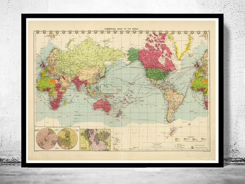 Old,World,Map,in,1922,world map, map of the world, atlas of the world, world maps for sale, vintage map of the world