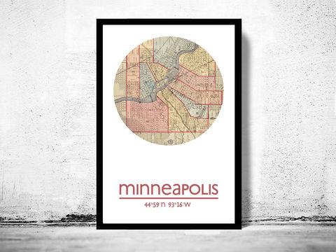 MINNEAPOLIS,-,city,poster,map,print, MINNEAPOLIS print, MINNEAPOLIS poster, MINNEAPOLIS Poster, american art, MINNEAPOLIS, MINNEAPOLIS map, wall decor, city,maps, travel poster
