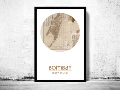 BOMBAY,-,city,poster,map,print, BOMBAY print, india poster, indian Poster, indian art, BOMBAY , BOMBAY map, wall decor, city,india art,maps,MUMBAI, travel poster