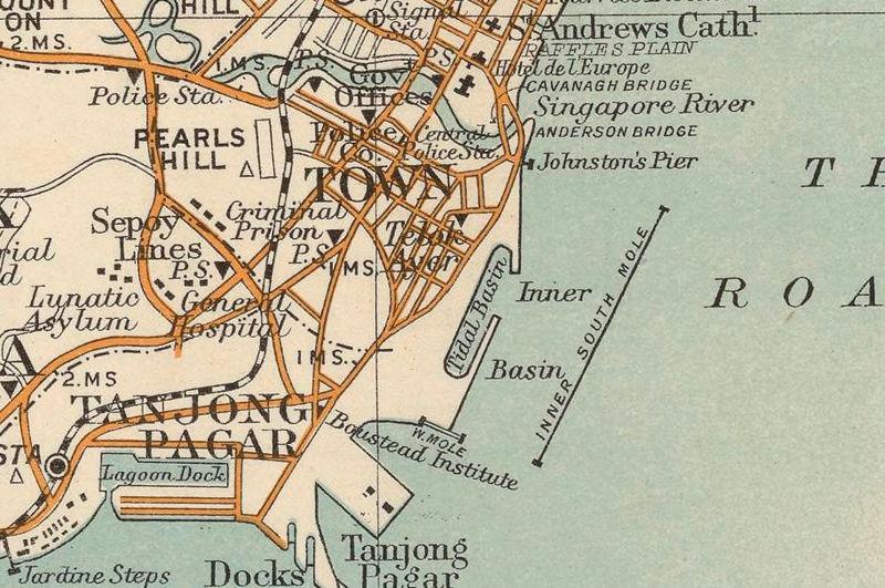 Vintage maps singapore