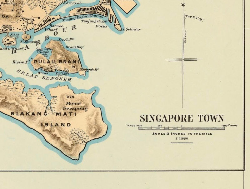 Are not Vintage maps singapore
