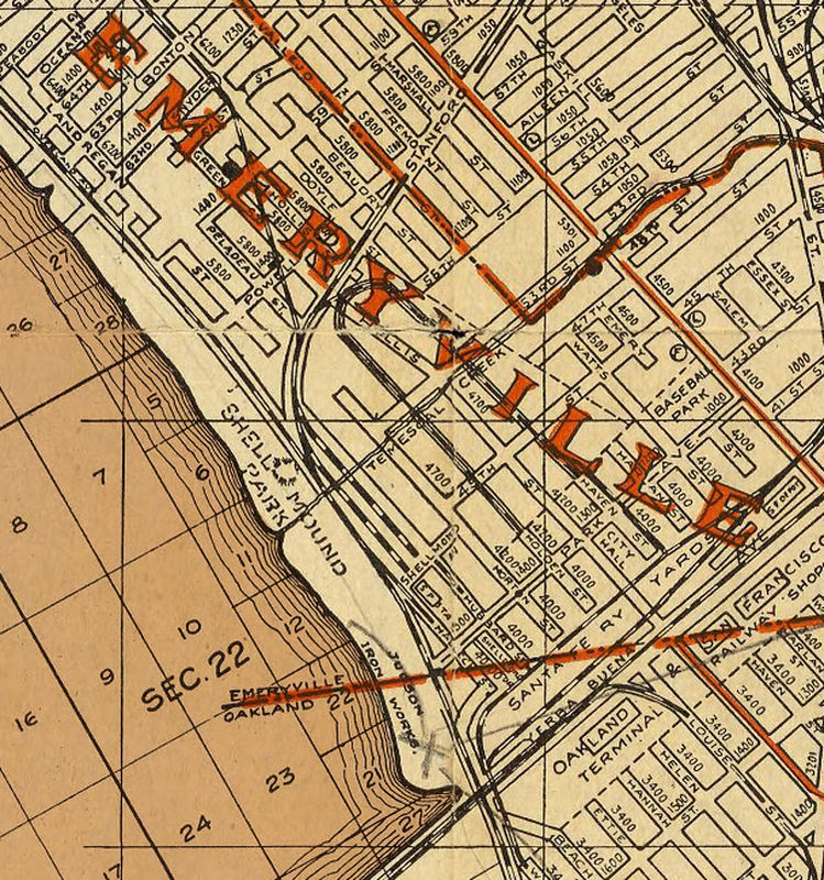 Old map Oakland Alameda Berkeley California 1925 OLD MAPS AND