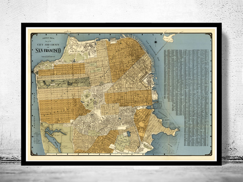 Old map of san francisco 1920 old maps and vintage prints old map of san francisco 1920 product image gumiabroncs Images