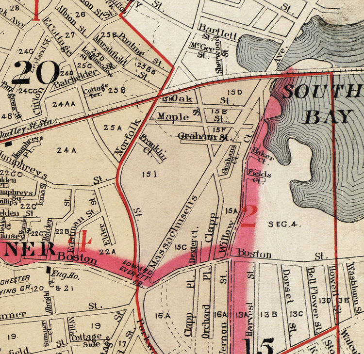 Old Map of Dorchester Boston 1895   OLD MAPS AND VINTAGE PRINTS