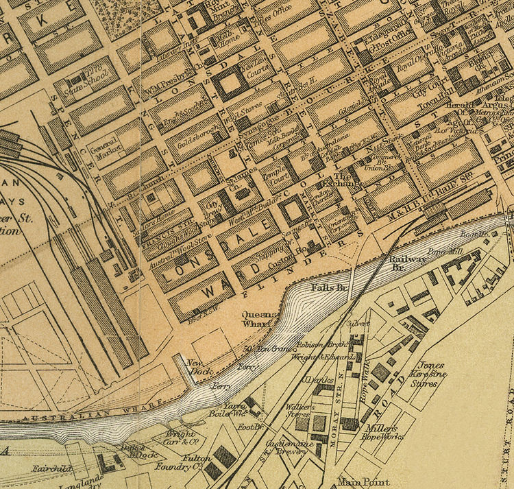 Vintage Map Of Melbourne Australia OLD MAPS AND VINTAGE PRINTS - Vintage maps melbourne