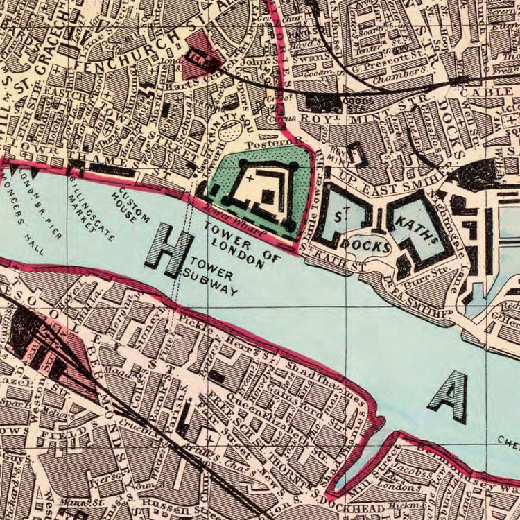 Old Map Of London OLD MAPS AND VINTAGE PRINTS - Old map shop london
