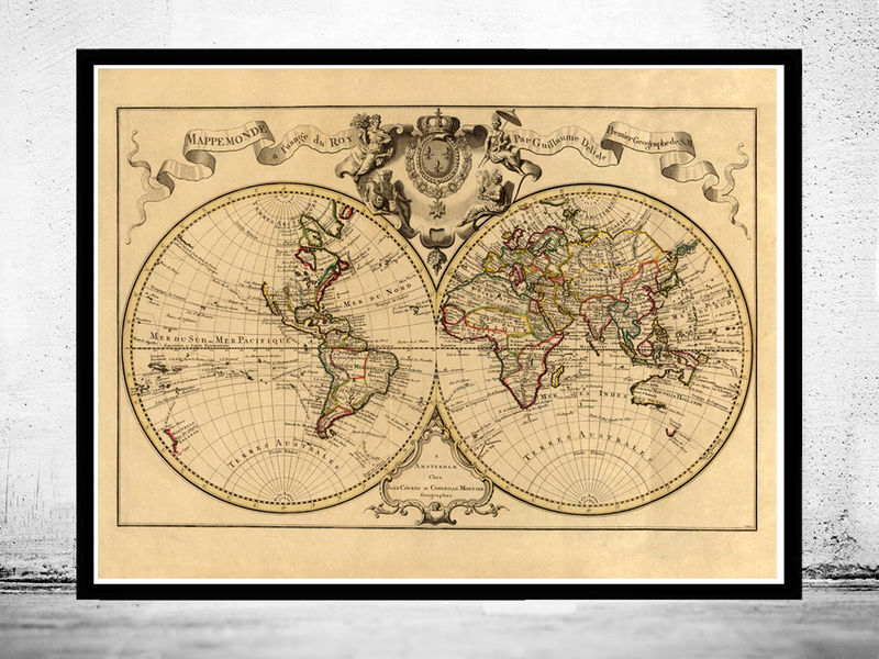 Old world map antique 1742 old maps and vintage prints old world map antique 1742 product image gumiabroncs Image collections