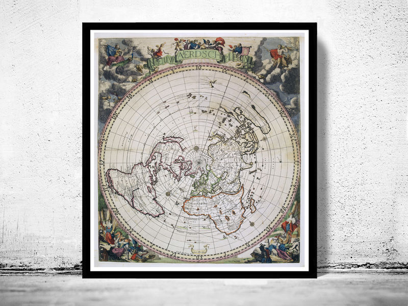 Old World Map Antique 1700 - OLD MAPS AND VINTAGE PRINTS