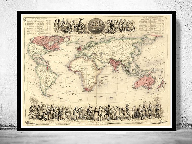 Old World Map Antique Atlas 1850 Old Maps And Vintage Prints