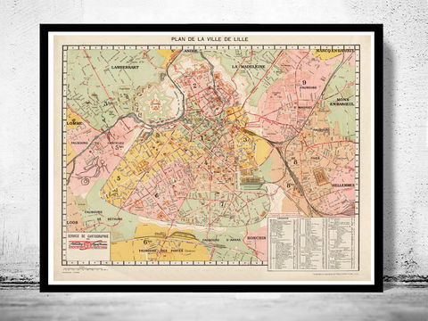 Old,Map,of,Lille,France,old map of lille, lille france , lille plan, map of lille france, old maps, old maps reproductions, old maps for sale