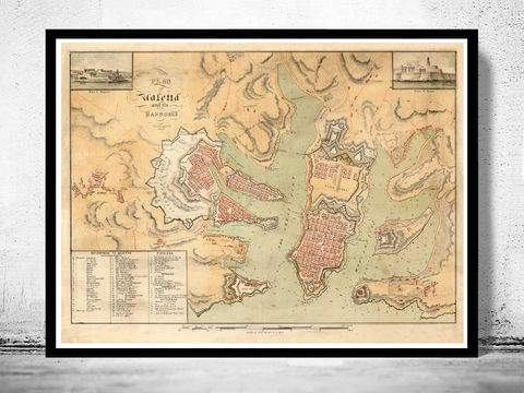 Old,Map,of,Valletta,Malta,1805,Art,Reproduction,Open_Edition,vintage,medieval,gravure,vintage_map,illustration,city_plan,old_map,vintage_poster,engraving,valletta,malta,island