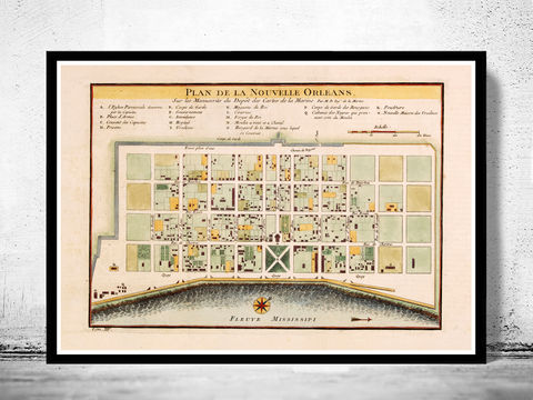 Old,Map,of,New,Orleans,1764,Art,Reproduction,Open_Edition,United_States,old_map,vintage_map,antique_map,new_orleans,new_orleans_poster,new_orleans_decor,new_orleans_gift,new_orleans_plan,new_orleans_map,map_of_new_orleans,new_orleans_vintage,new_orleans_retro