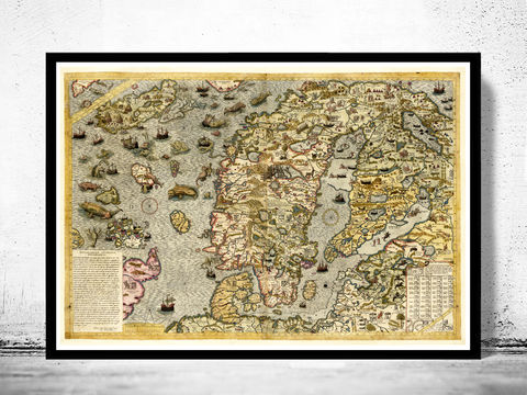 Old,Map,of,Norway,Sweden,Scandinavia,Antique,Norwegen,1572,Antony,Lafreri,Art,Reproduction,Open_Edition,vintage,old_map,antique,atlas,illustration,sweden,norway,scandinavia,1529,finland,sweden_map,norway_map,scandinavia_map