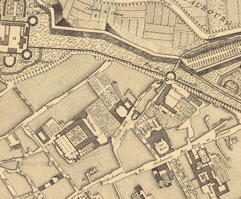 Old Map of Dijon 1759 - OLD MAPS AND VINTAGE PRINTS