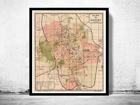 Old,Map,of,Lodz,Poland,1927,Art,Reproduction,Open_Edition,city,vintage,illustration,gravure,vintage_map,city_plan,poland,old_map,vintage_poster,lodz,poland_poster,lodz_poland