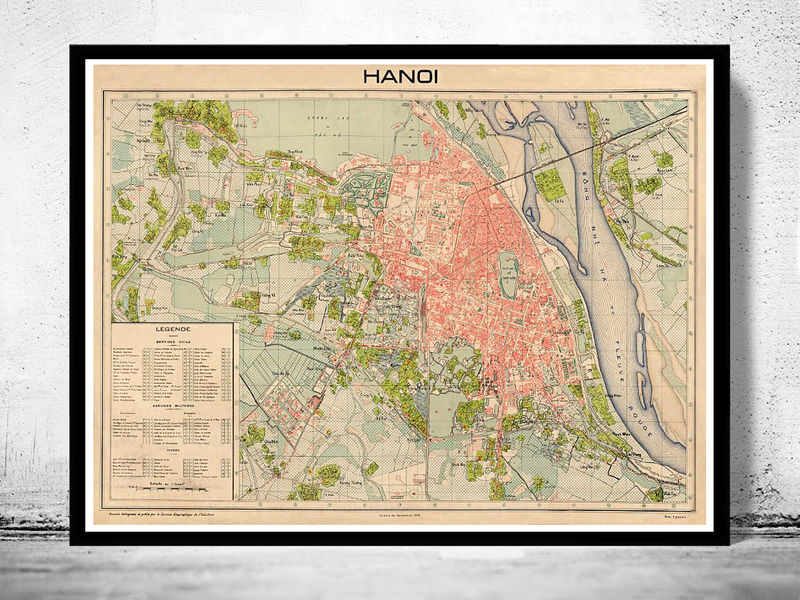 old map of hanoi vietnam 1929 old maps and vintage prints