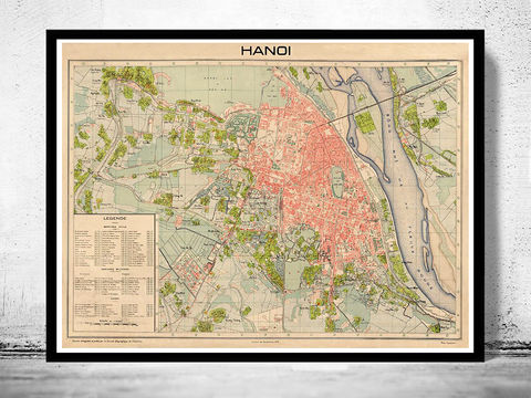 Old,Map,of,Hanoi,Vietnam,1929,Art,Reproduction,Open_Edition,city,vintage,illustration,gravure,vintage_map,city_plan,hanoi, hanoi city, hanoi poster, hanoi print, hanoi vietnam, old map of hanoi