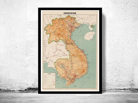 Old,Map,of,Indochina,1937,thailand map, old map of thailand, old siam, siam, thailand poster, infochine, indochina map, map of indochina, old map of indochina, Burma map, Cambodia mpa, Laos map, Malaysia map, Thailand, Vietnam