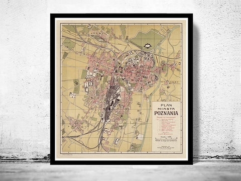 Old,Map,of,Poznan,Poland,1924,Art,Reproduction,Open_Edition,city,vintage,illustration,gravure,vintage_map,city_plan,poland,poznan, poznan poland, poznan map, map of poznan, poznan poster, poznan print